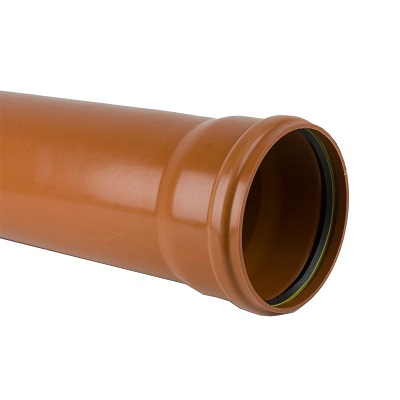 Single socket SN8 compact sewer/underground drainage pipe.  sc 1 st  Morgan Supplies Gloucester & Underground Drainage Pipe 110mm x 6m u2013 Single Socket | Morgan ...