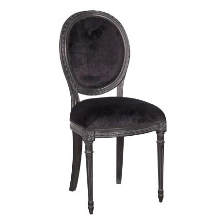 INT2238 Moulin Noir Velvet Dining Chair