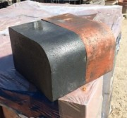 Large bullnose kerb charcole or brindle