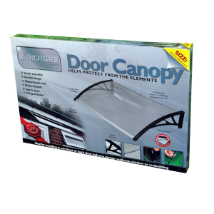 door canopy black