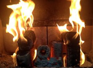 eco logs burn